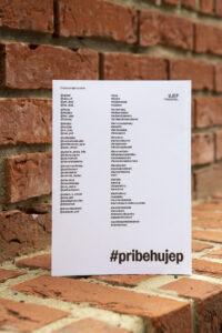 Seznam hashtagů a odkazů, použitých v nové publikaci o UJEP.